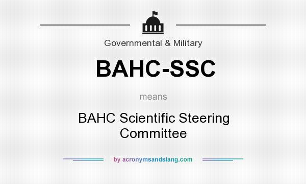 What does BAHC-SSC mean? It stands for BAHC Scientific Steering Committee