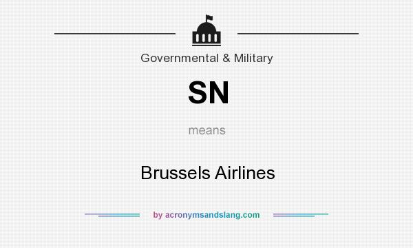 What does SN mean? It stands for Brussels Airlines