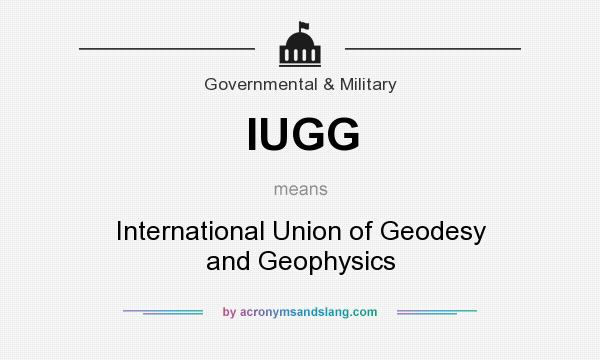 What does IUGG mean? It stands for International Union of Geodesy and Geophysics