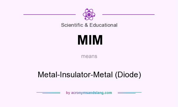 What does MIM mean? It stands for Metal-Insulator-Metal (Diode)