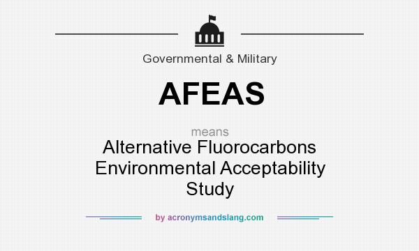 What does AFEAS mean? It stands for Alternative Fluorocarbons Environmental Acceptability Study
