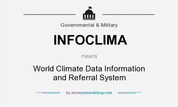 What does INFOCLIMA mean? It stands for World Climate Data Information and Referral System
