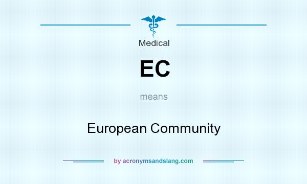 What does EC mean? It stands for European Community
