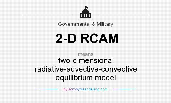 What does 2-D RCAM mean? It stands for two-dimensional radiative-advective-convective equilibrium model