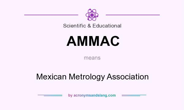 What does AMMAC mean? It stands for Mexican Metrology Association