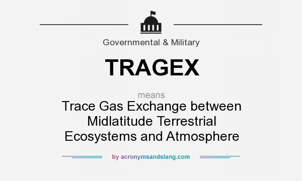 What does TRAGEX mean? It stands for Trace Gas Exchange between Midlatitude Terrestrial Ecosystems and Atmosphere
