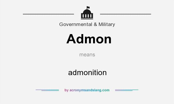 What does Admon mean? It stands for admonition