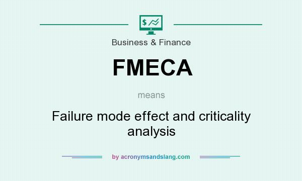 What does FMECA mean? It stands for Failure mode effect and criticality analysis