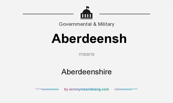 What does Aberdeensh mean? It stands for Aberdeenshire