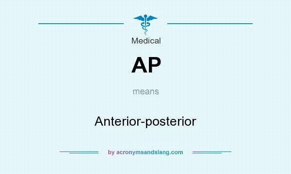 What does AP mean? It stands for Anterior-posterior