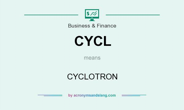 What does CYCL mean? It stands for CYCLOTRON