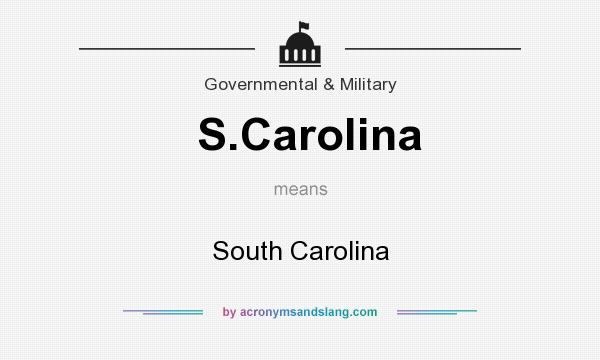 What does S.Carolina mean? It stands for South Carolina
