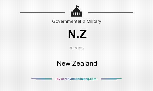 What does N.Z mean? It stands for New Zealand