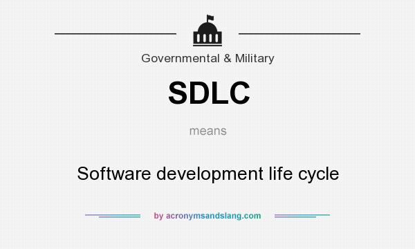 What does SDLC mean? It stands for Software development life cycle