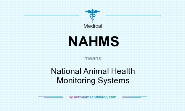 What does NAHMS mean? It stands for National Animal Health Monitoring Systems