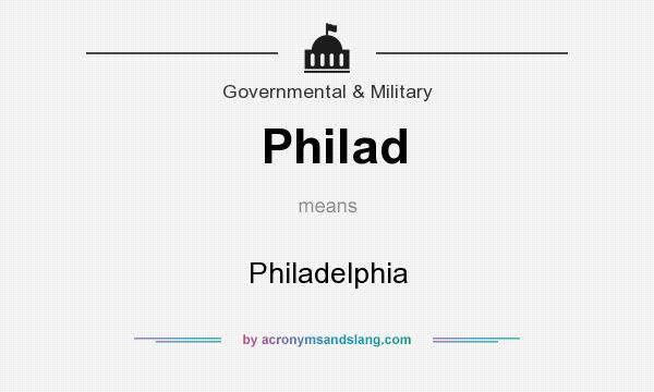 What does Philad mean? It stands for Philadelphia