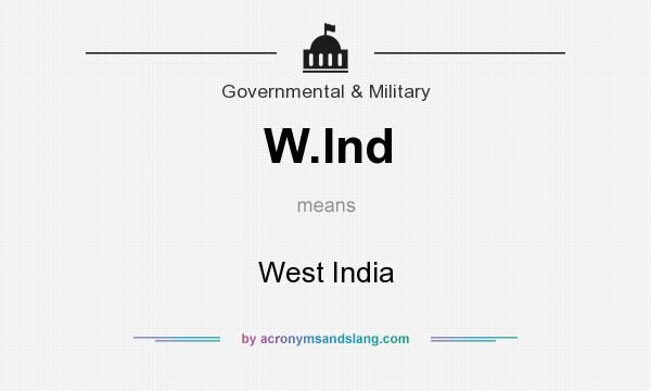What does W.Ind mean? It stands for West India