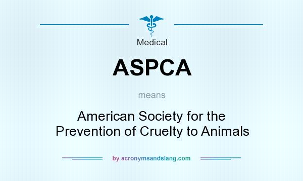 What does ASPCA mean? It stands for American Society for the Prevention of Cruelty to Animals