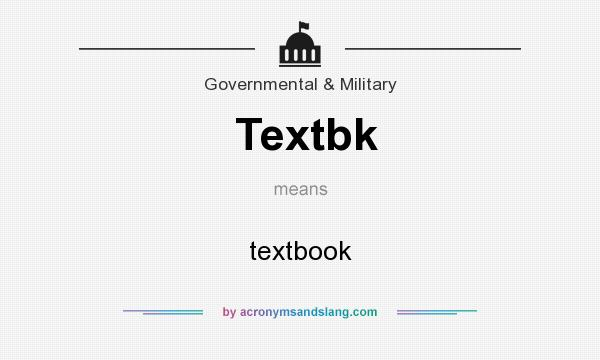 What does Textbk mean? It stands for textbook