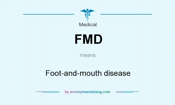 What does FMD mean? It stands for Foot-and-mouth disease