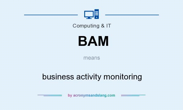 What does BAM mean? It stands for business activity monitoring