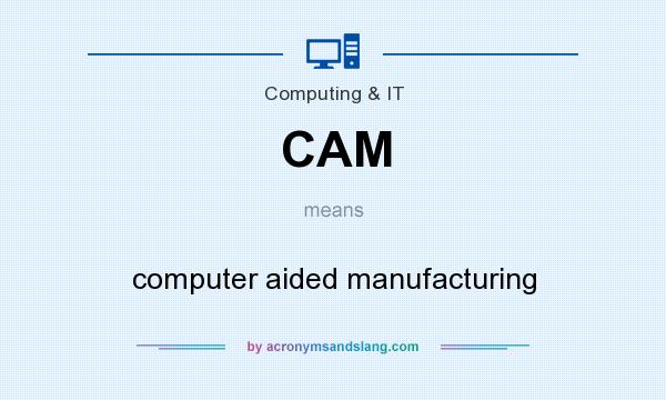 What does CAM mean? It stands for computer aided manufacturing
