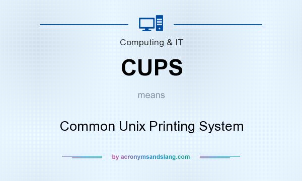 What does CUPS mean? It stands for Common Unix Printing System