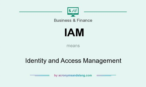 What does IAM mean? It stands for Identity and Access Management