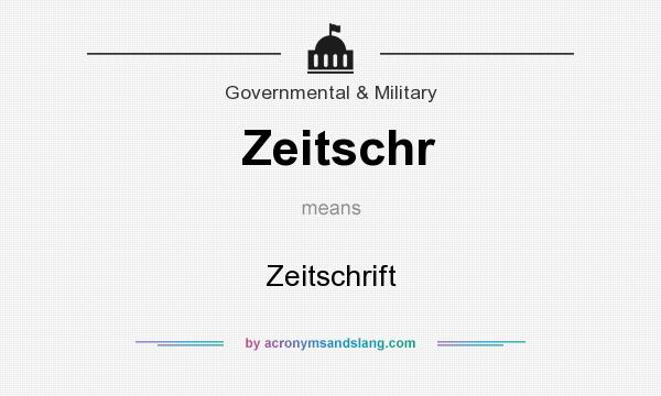 What does Zeitschr mean? It stands for Zeitschrift