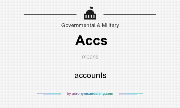What does Accs mean? It stands for accounts