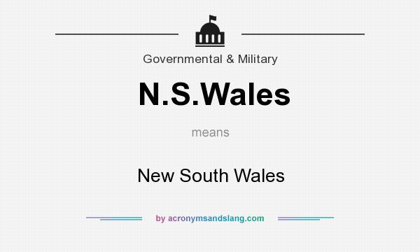 What does N.S.Wales mean? It stands for New South Wales