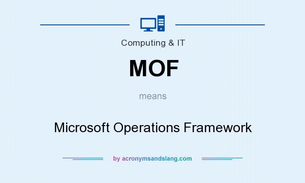 What does MOF mean? It stands for Microsoft Operations Framework