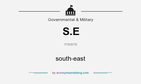 What does S.E mean? It stands for south-east