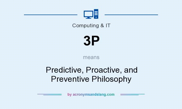 What does 3P mean? It stands for Predictive, Proactive, and Preventive Philosophy