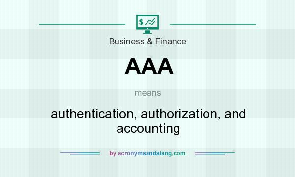 What does AAA mean? It stands for authentication, authorization, and accounting