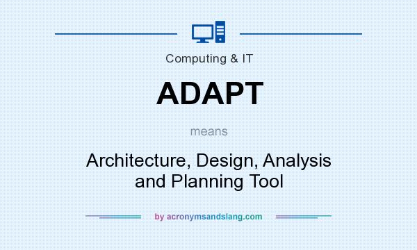 What does ADAPT mean? It stands for Architecture, Design, Analysis and Planning Tool