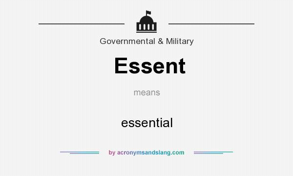 What does Essent mean? It stands for essential