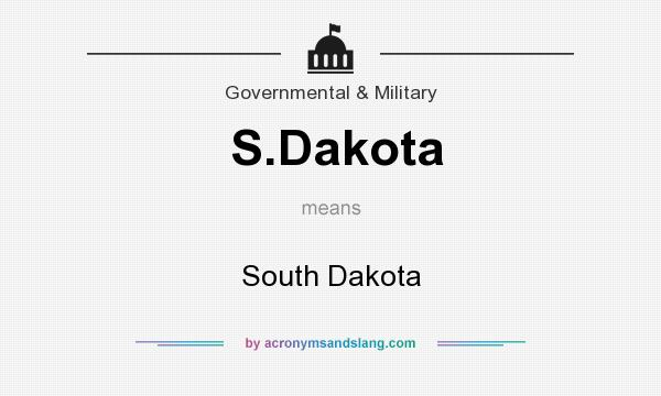 What does S.Dakota mean? It stands for South Dakota