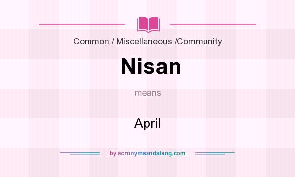 What does Nisan mean? It stands for April