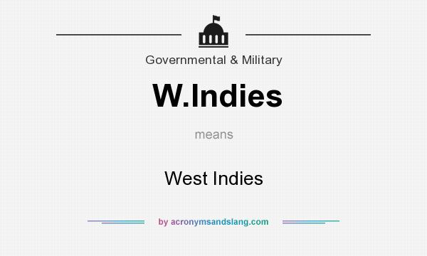 What does W.Indies mean? It stands for West Indies