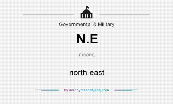 What does N.E mean? It stands for north-east