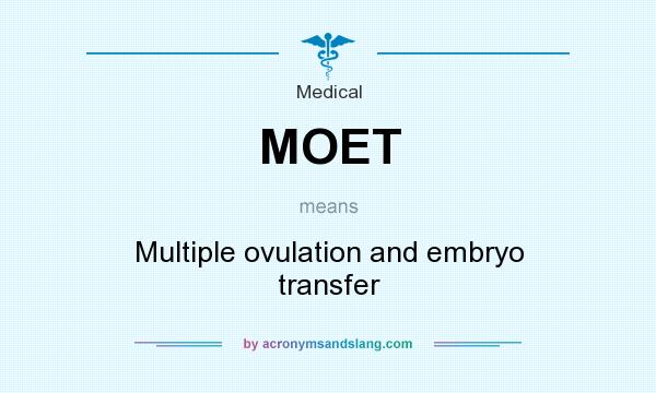 What does MOET mean? It stands for Multiple ovulation and embryo transfer