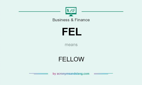 What does FEL mean? It stands for FELLOW