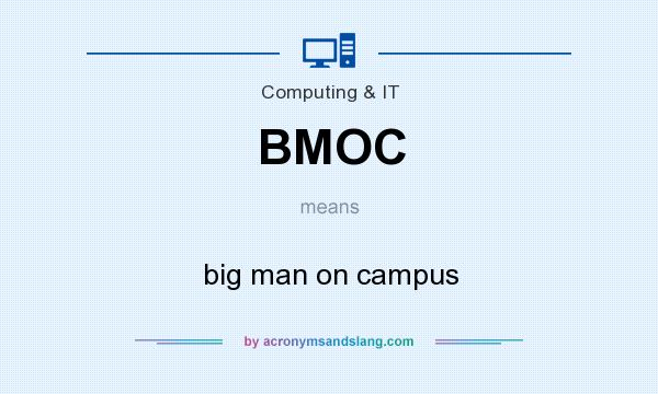 What does BMOC mean? It stands for big man on campus