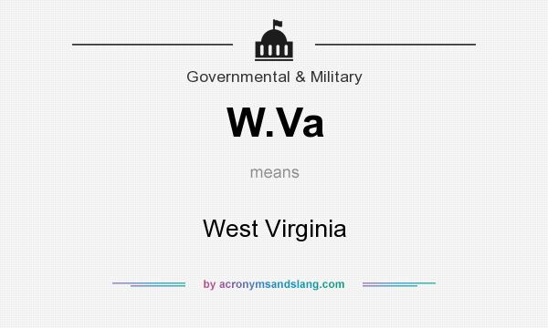 What does W.Va mean? It stands for West Virginia