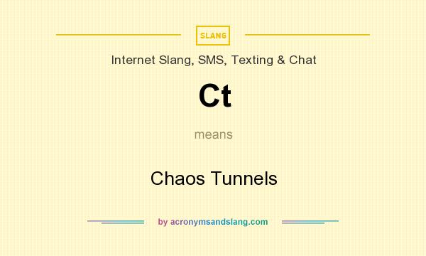 What does Ct mean? It stands for Chaos Tunnels