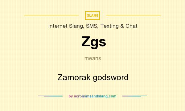 What does Zgs mean? It stands for Zamorak godsword