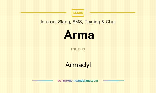 What does Arma mean? It stands for Armadyl