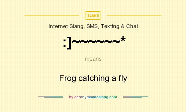 What does :]~~~~~~* mean? It stands for Frog catching a fly