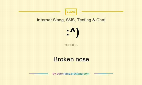 What does :^) mean? It stands for Broken nose